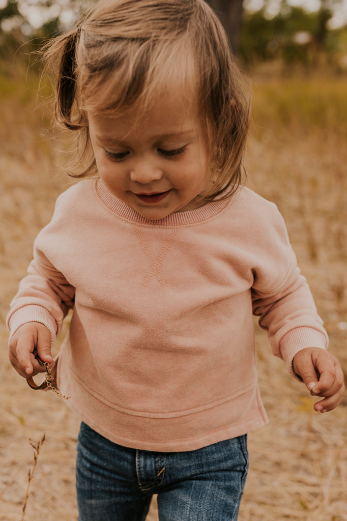 The Mini Mariah Pullover in Pink | ROOLEE