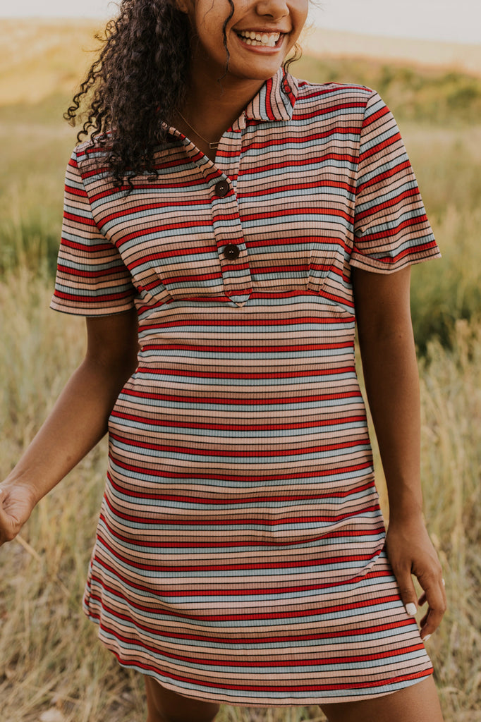 Stripe Skater Dress | ROOLEE