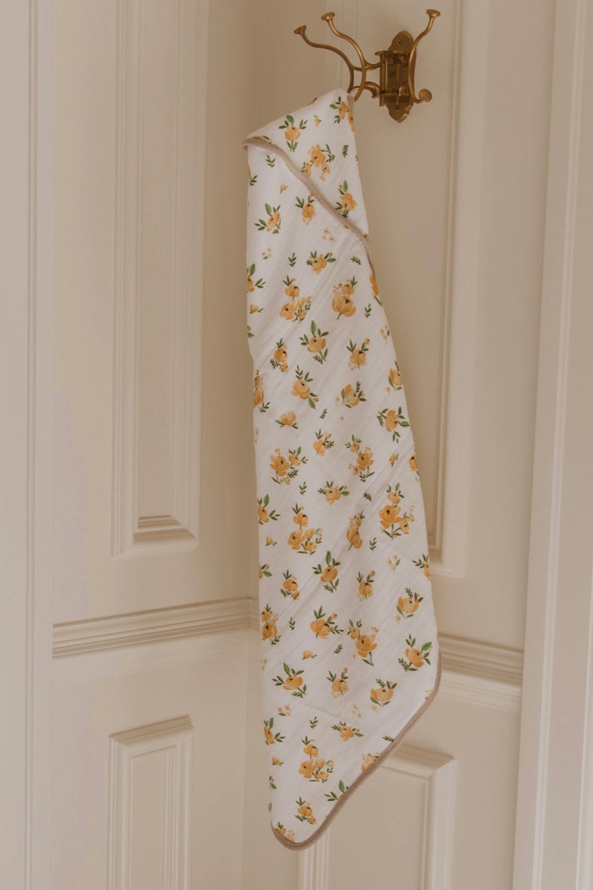 Hooded Towel Set - Yellow Rose