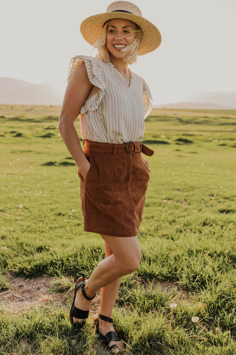 Corduroy Skirt for Women | ROOLEE