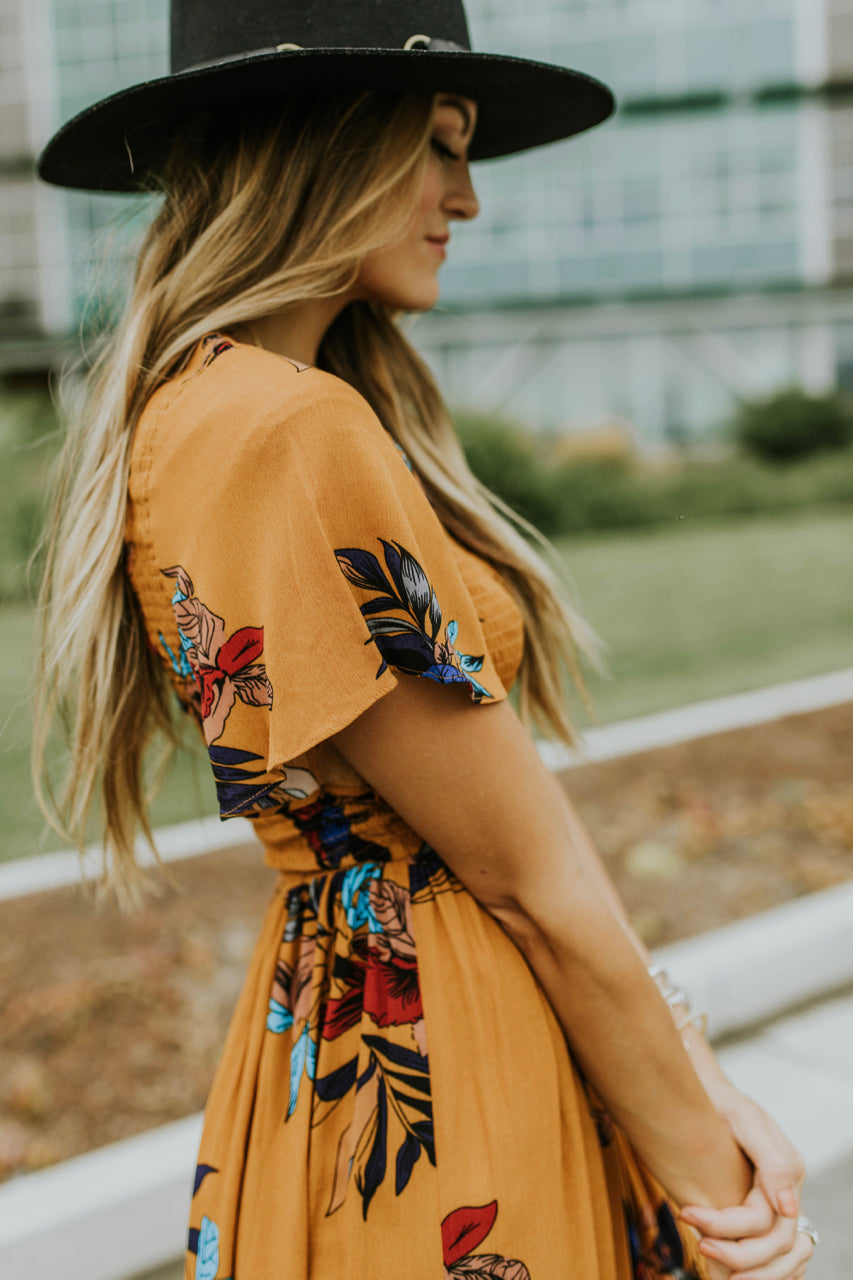 Goldenrod Floral Dress | ROOLEE