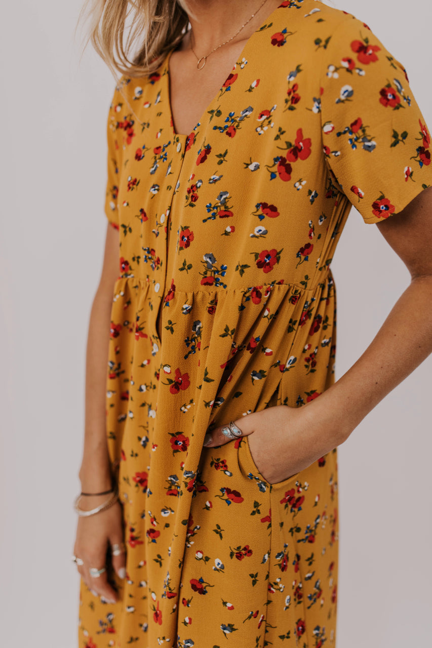 Button Down Floral Dress | ROOLEE