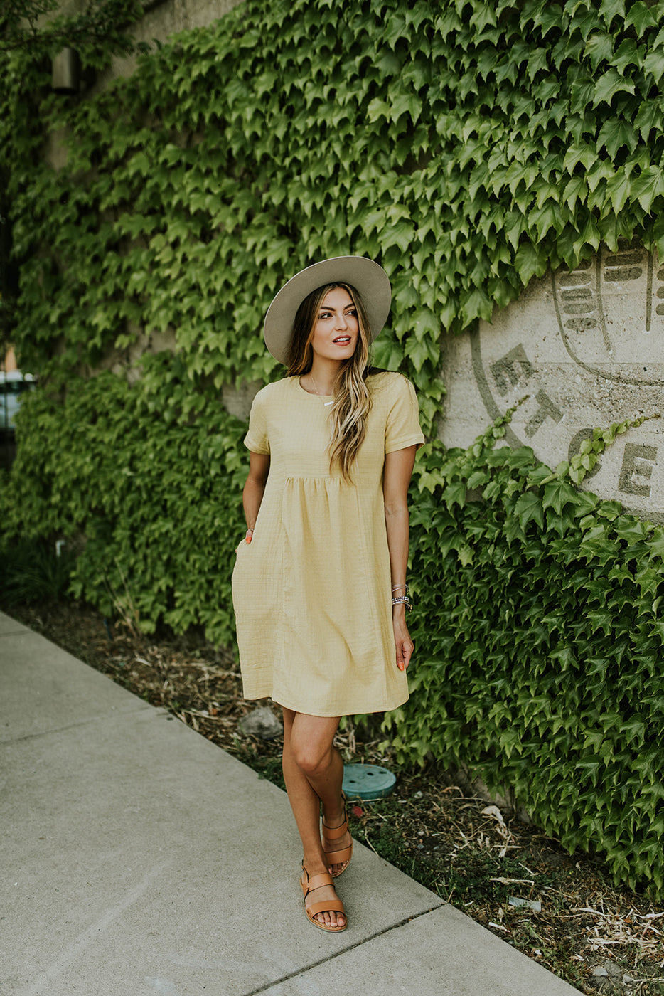 Short Sleeve Yellow Dress | ROOLEE