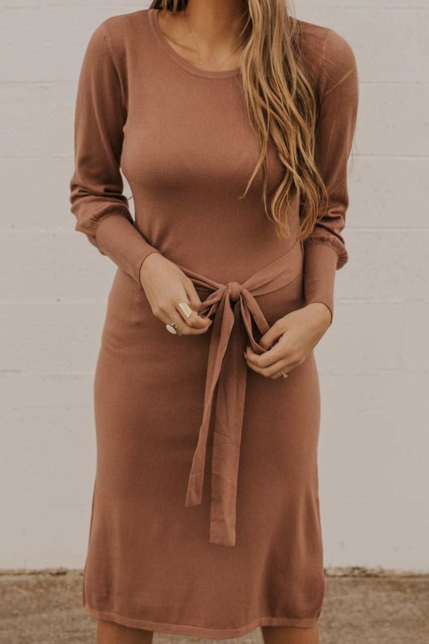 Waist Tie Column Dress | ROOLEE
