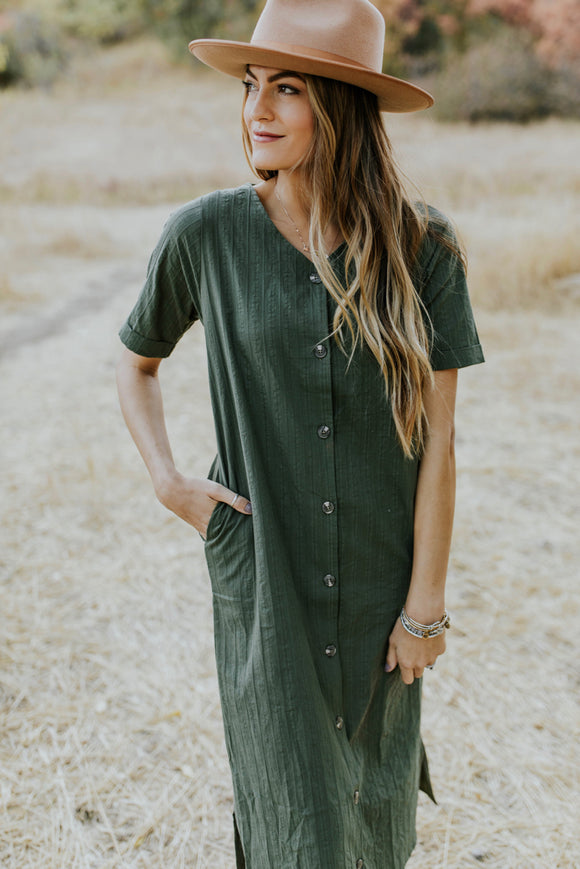 Kennington Button Dress | ROOLEE