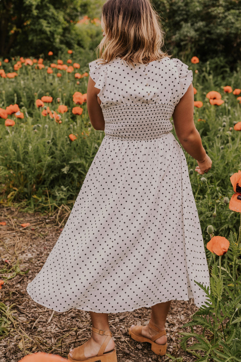 Long Ruffle Sleeve Dress | ROOLEE