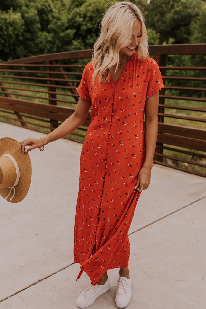 Red Maxi Dress | ROOLEE