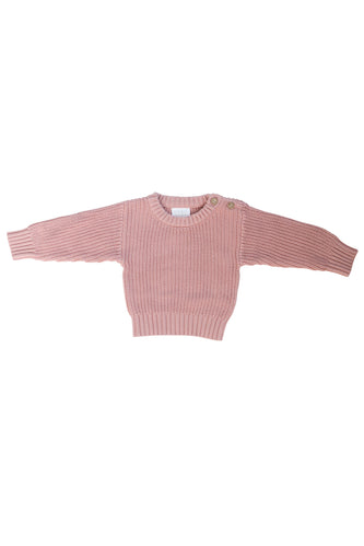 Pink knit kids sweater | ROOLEE