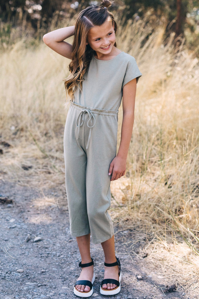 Short Sleeve Jumpsuit Outfit For Girls | ROOLEE Kids