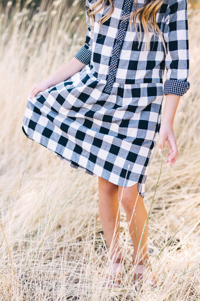Checkered Dress Outfit Casual Plaid | ROOLEE Kids