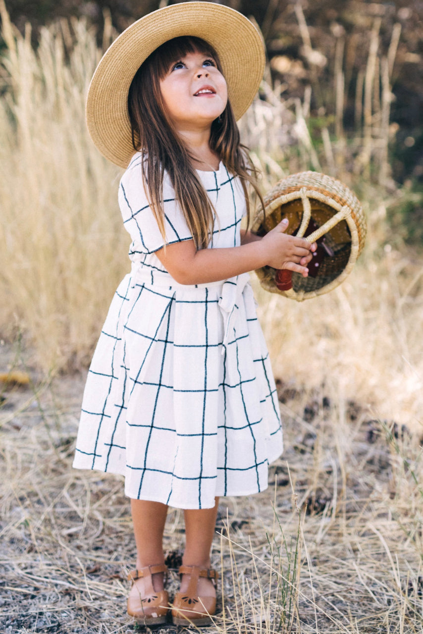 Classy Short Sleeve Dress For Little Girls | ROOLEE Kids