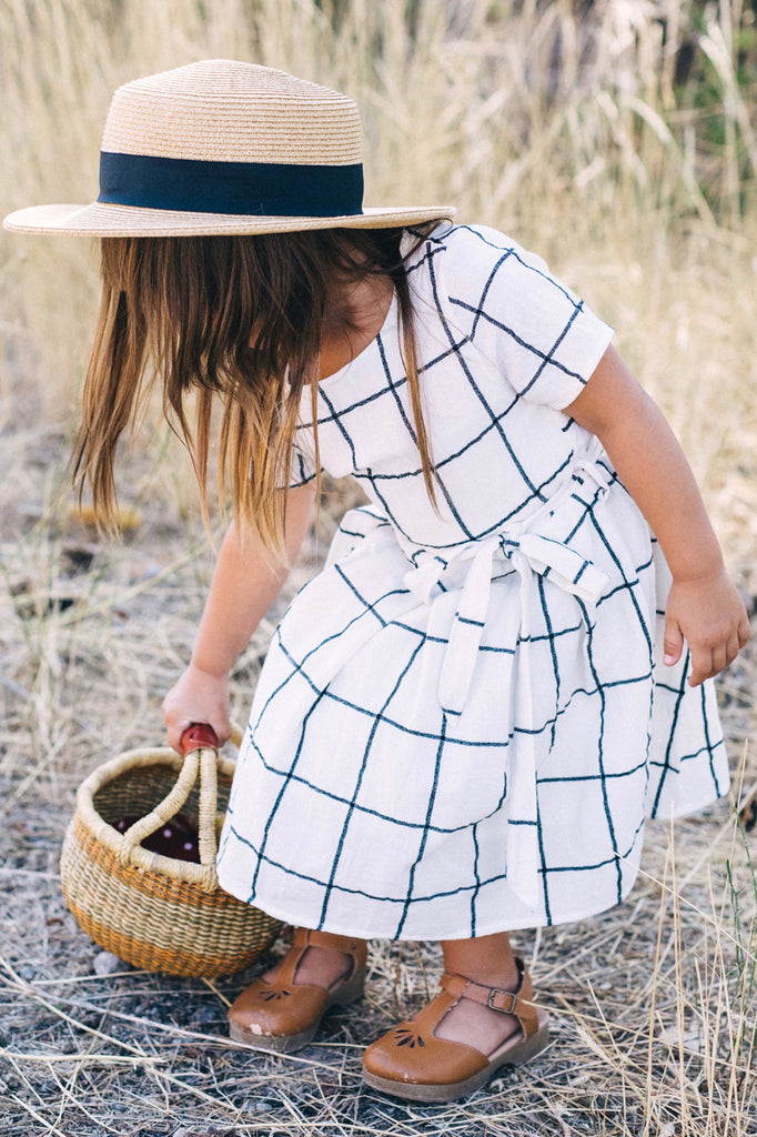 Plaid Tie Waist Dress For Little Girls | ROOLEE Kids
