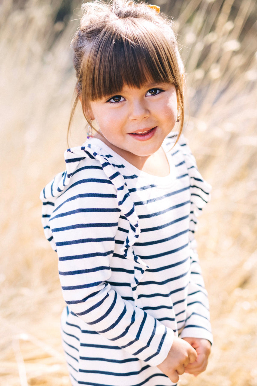 Long Sleeve Stripe Dress Outfit Ideas | ROOLEE Kids