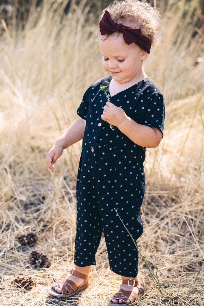 Polka Dot Jumpsuit Outfits Fashion | ROOLEE Kids