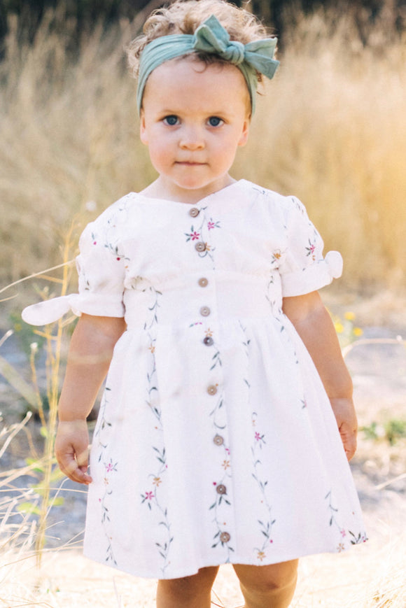 Floral Button Up Dress Outfit | ROOLEE Kids