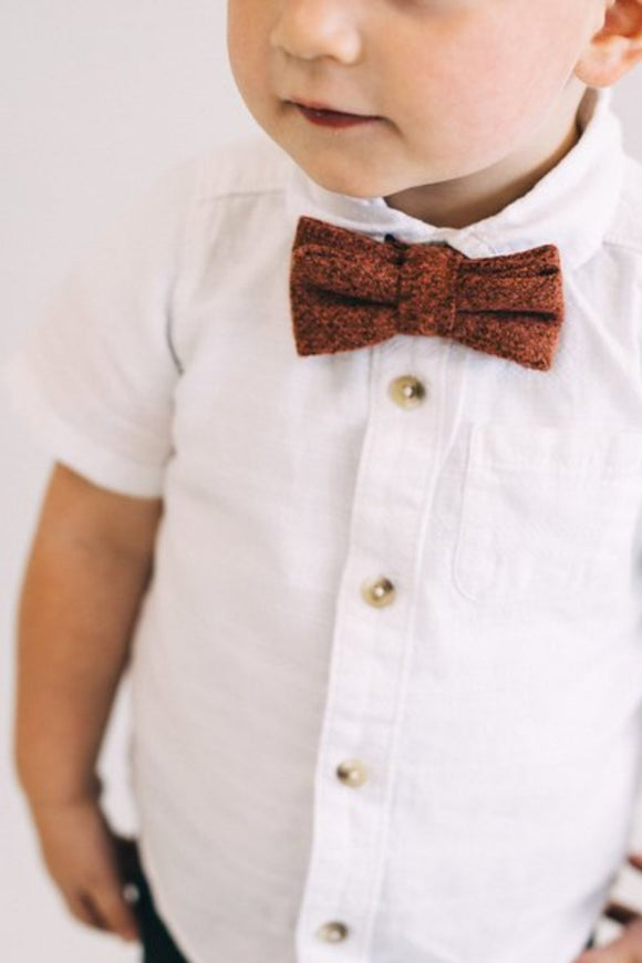 Clarence Bow Tie in Burgundy | ROOLEE Kids