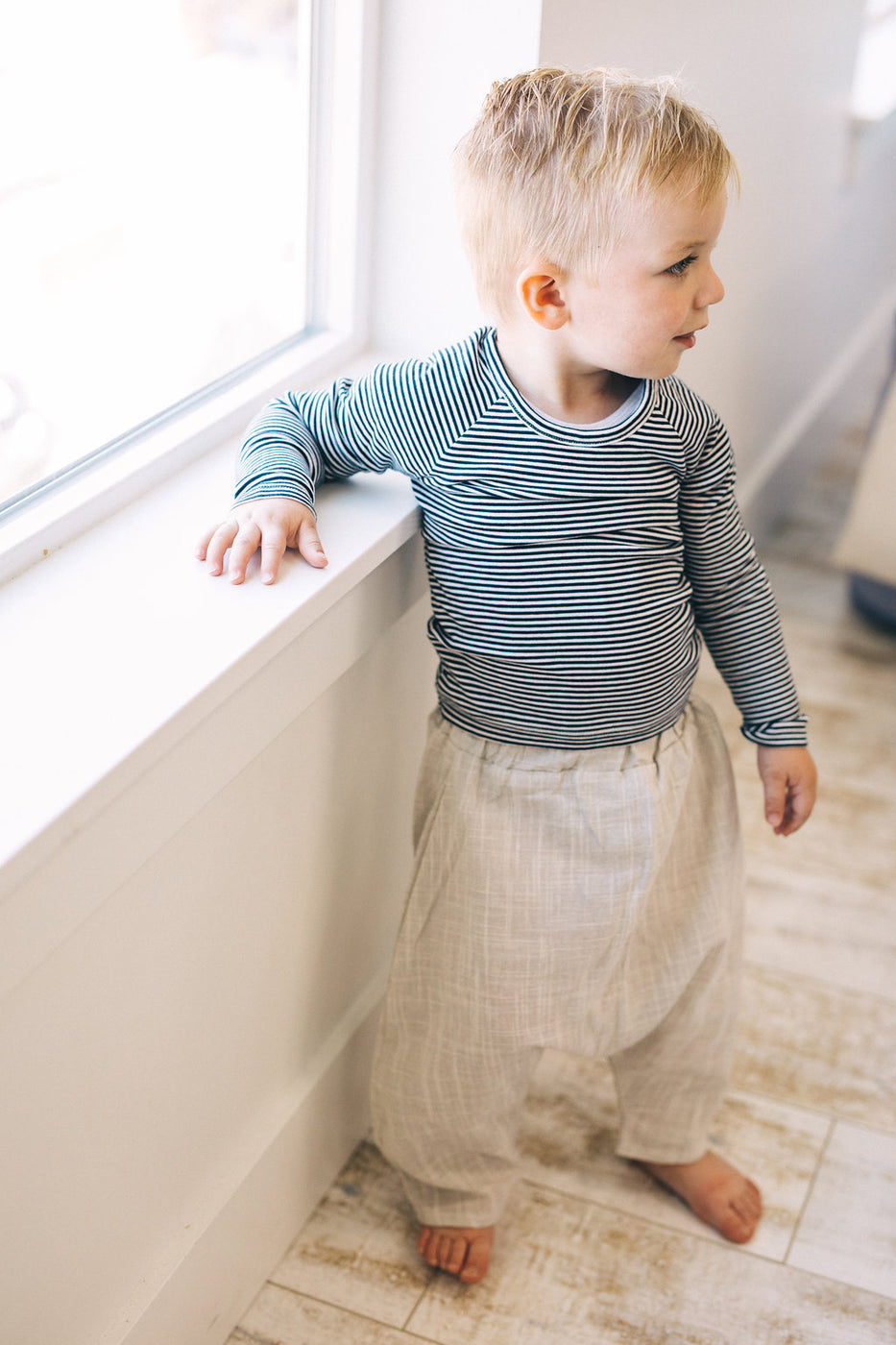 Beige Comfy Pant For Boys And Girls | ROOLEE Kids