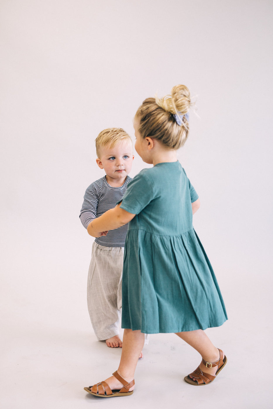 Emerald Green Short Sleeve Dress | ROOLEE Kids