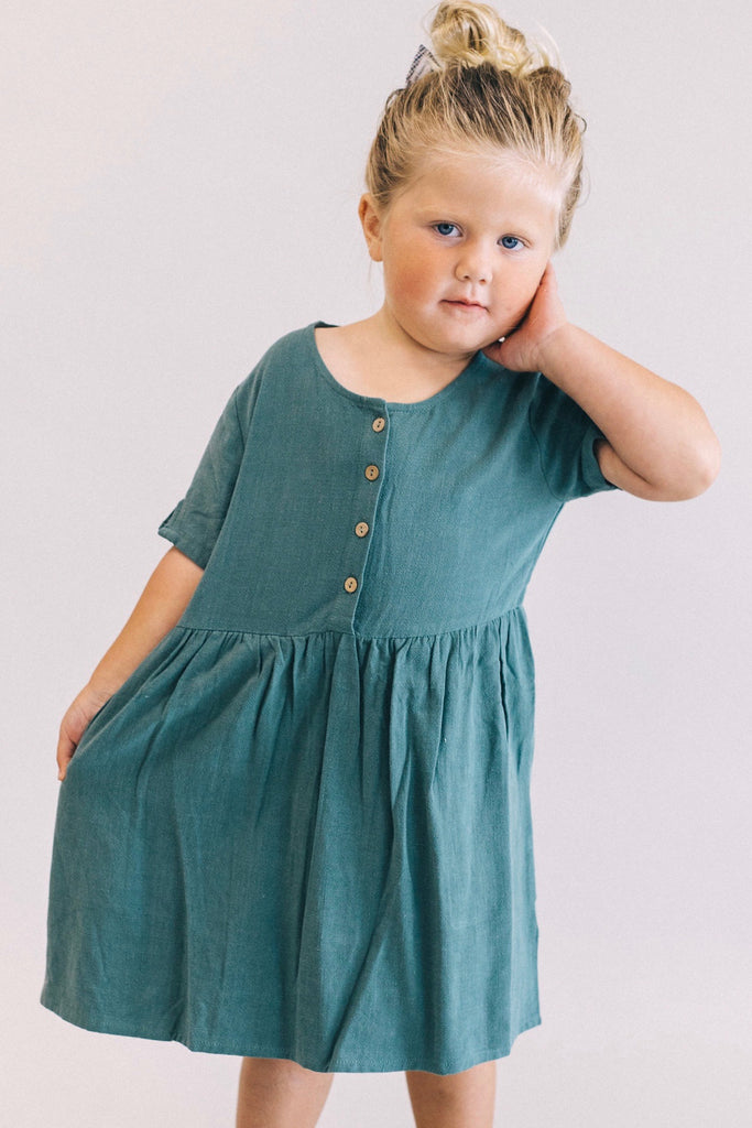 Quincy Button Dress | ROOLEE Kids