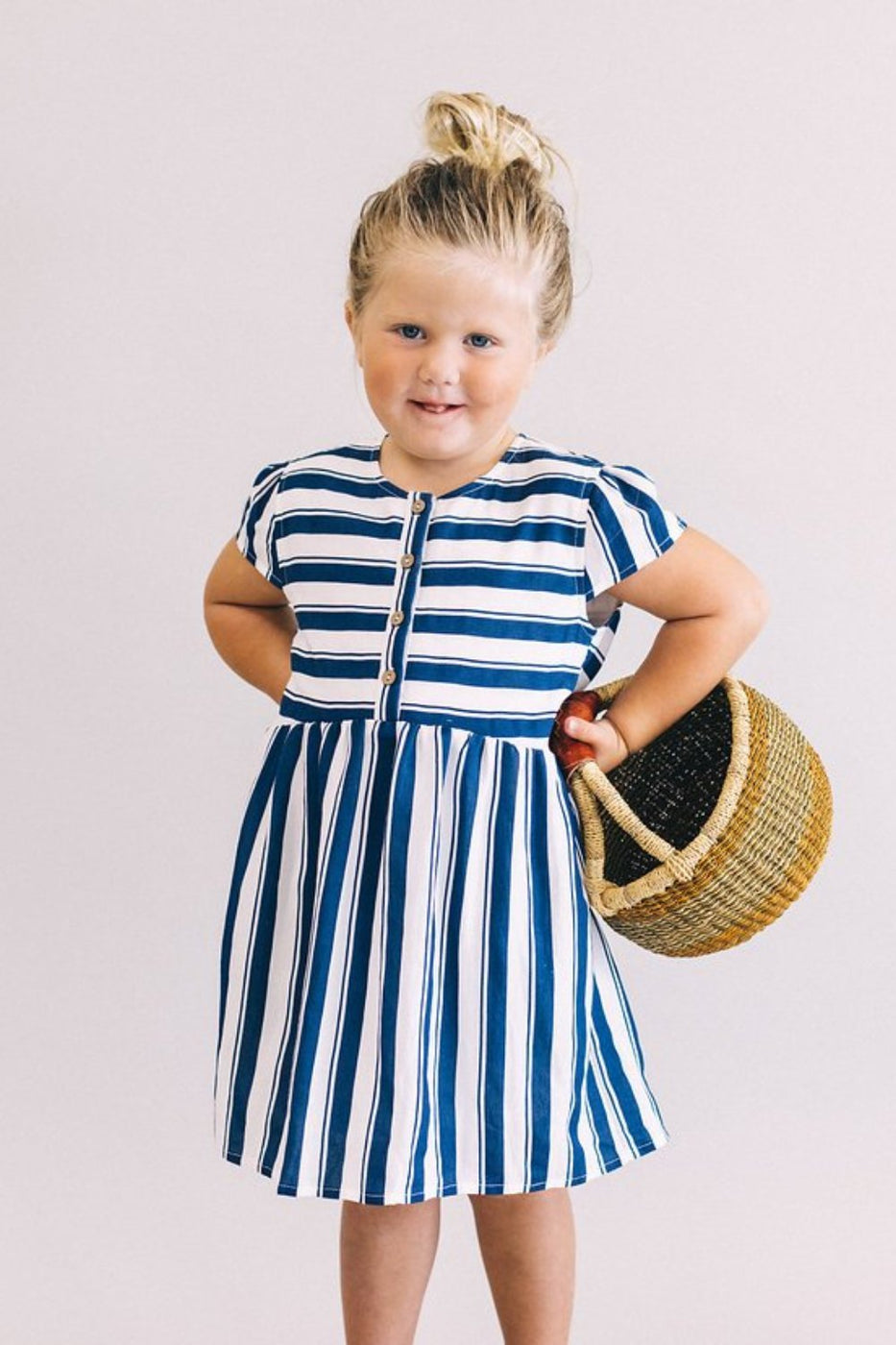 Mini Café Stripe Dress | ROOLEE Kids