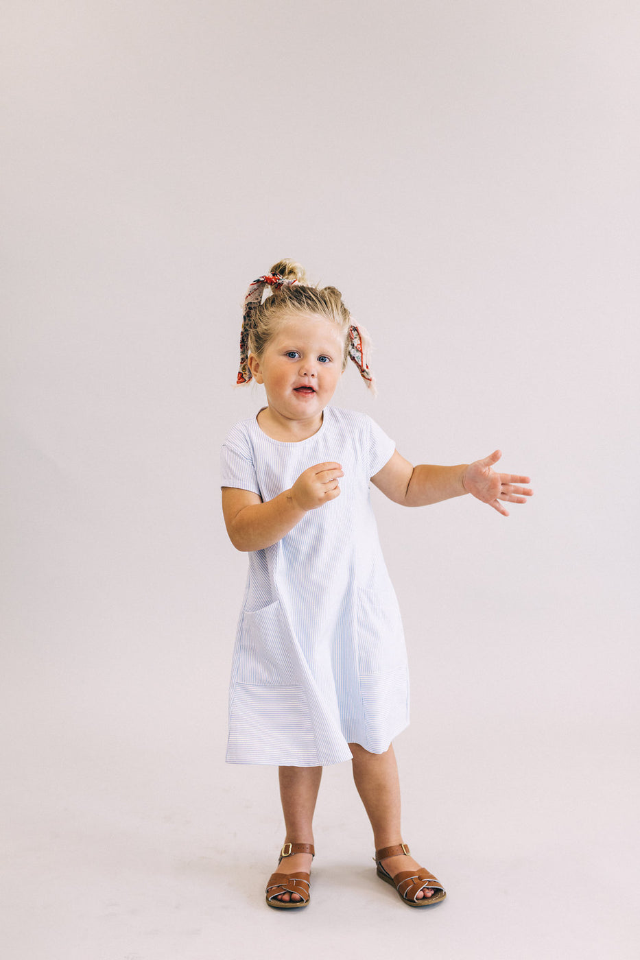 Navy Stripe Dress | ROOLEE Kids