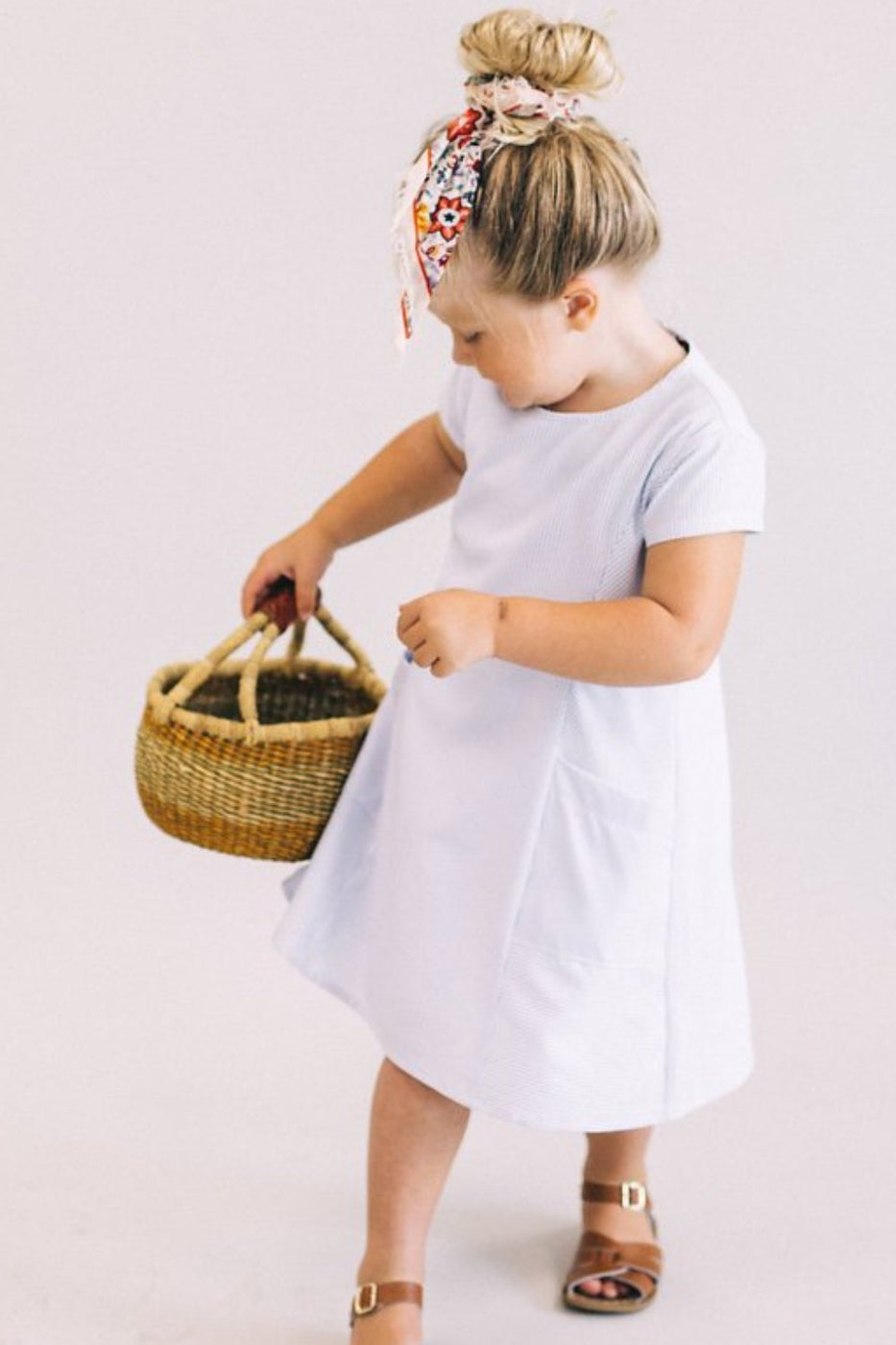 Rosalyn Pocket Dress in Navy | ROOLEE Kids