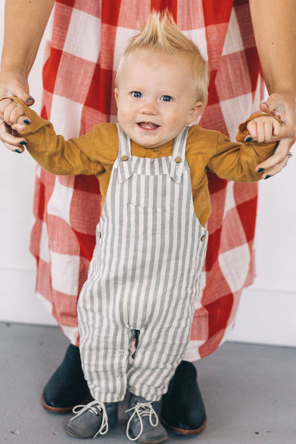 Rylee + Cru Stripe Baby Overall