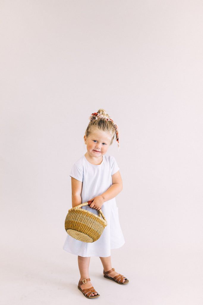 Stripe Pocket Dress in Navy | ROOLEE Kids