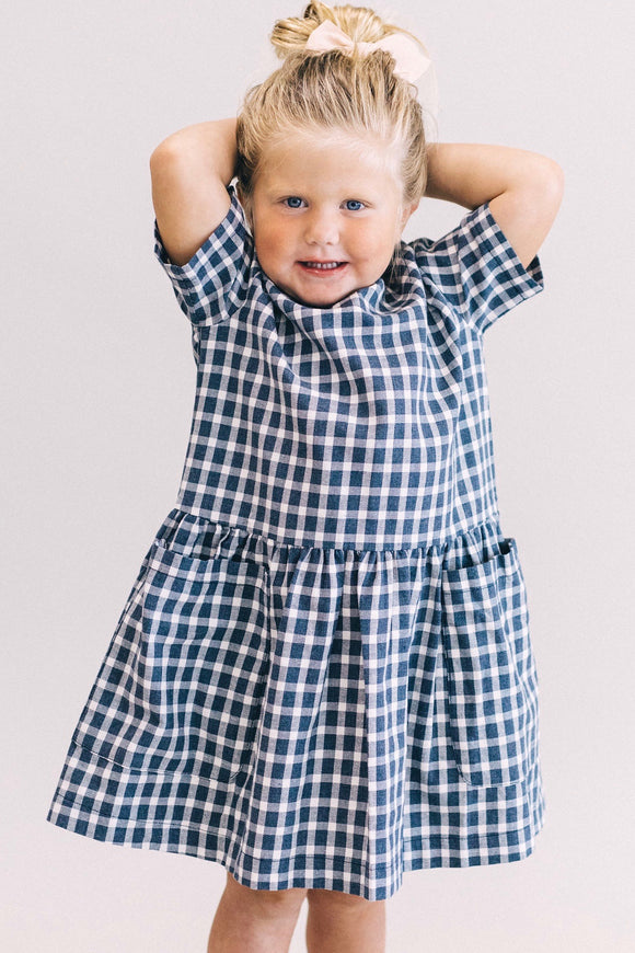 Daisha Checkered Dress | ROOLEE Kids