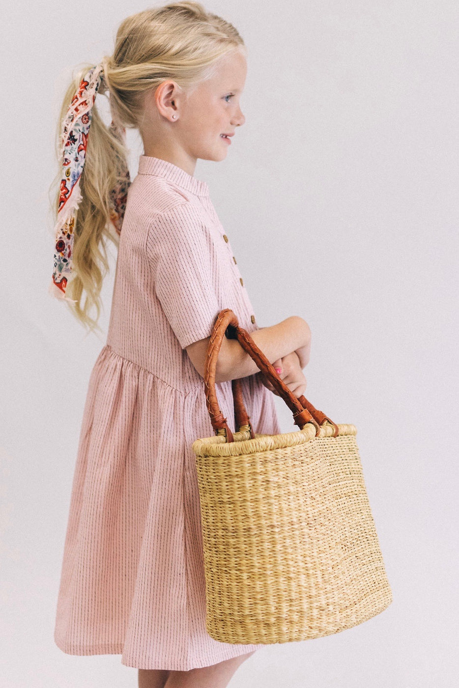 Mini Clements Woven Dress in Primrose | ROOLEE Kids