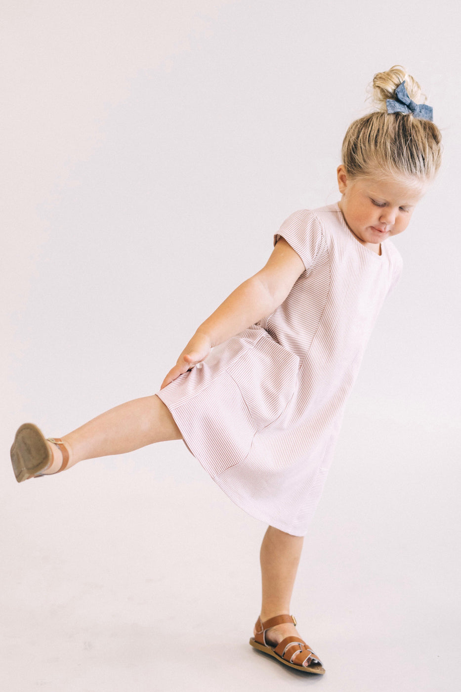 Mini Rosalyn Pocket Dress in Sienna | ROOLEE Kids
