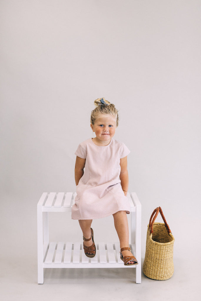 Sienna + White Stripe Dress | ROOLEE Kids
