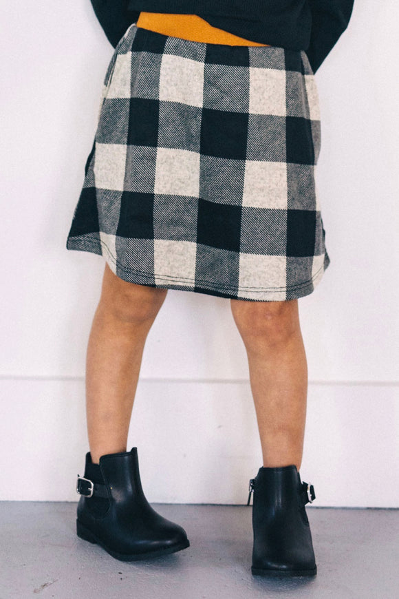 Gianna Plaid Skirt | ROOLEE Kids