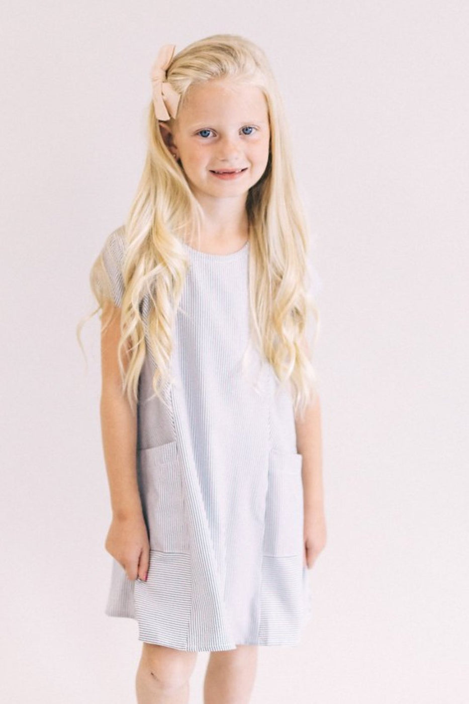 Mini Rosalyn Pocket Dress in Sky | ROOLEE