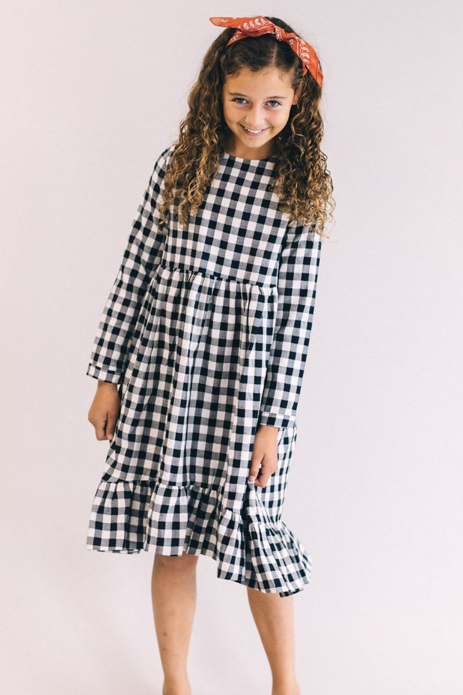 Desirae Checkered Dress | ROOLEE Kids