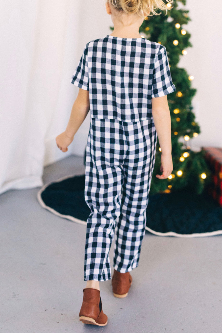 Andreason Gingham Jumpsuit | ROOLEE Kids