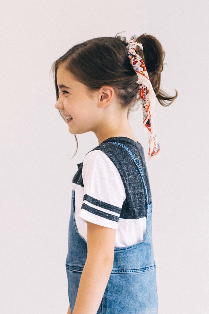 Black + White Colorblock Sport Top For Girls | ROOLEE Kids