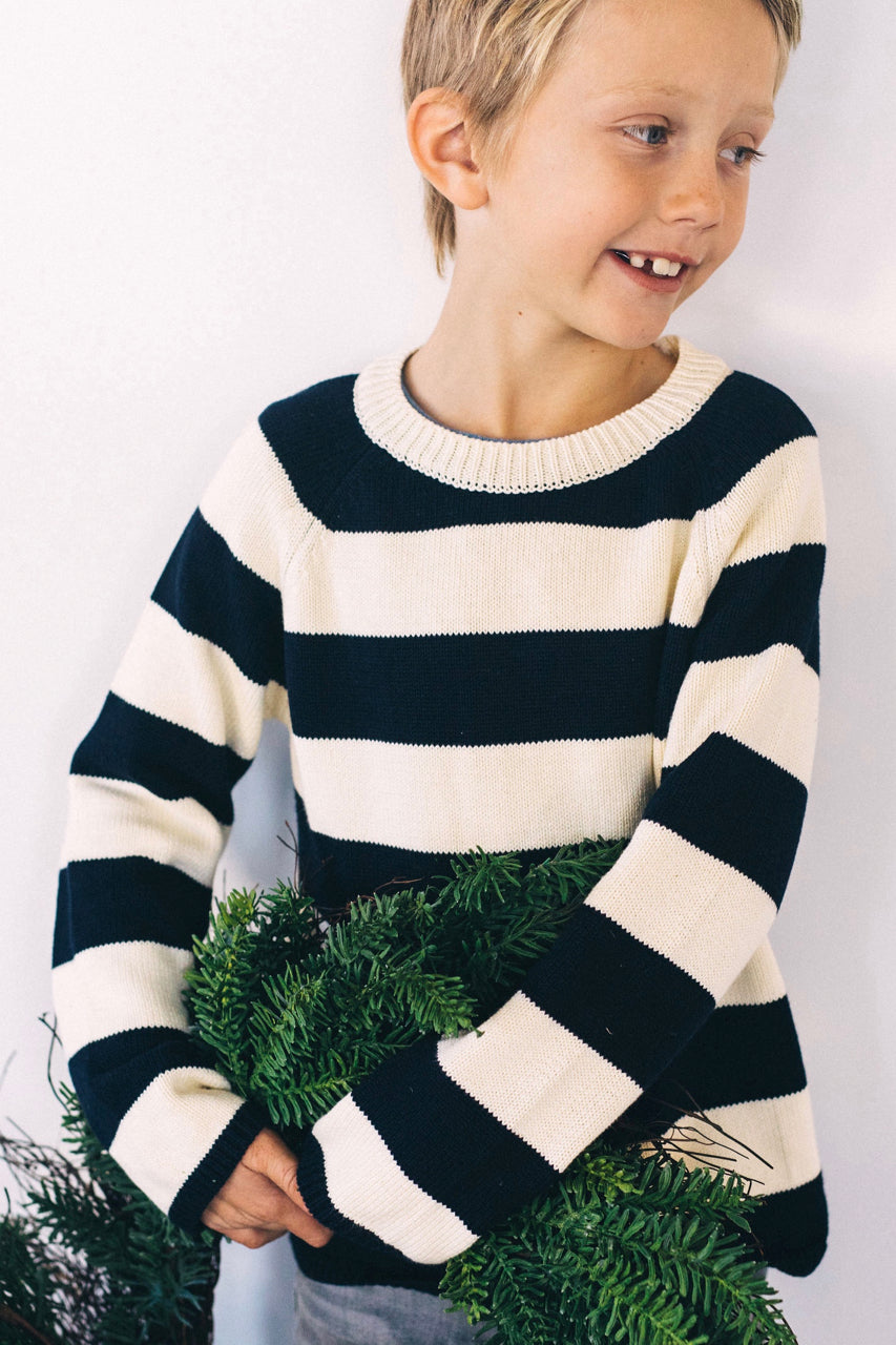 Mason Stripe Sweater | ROOLEE Kids