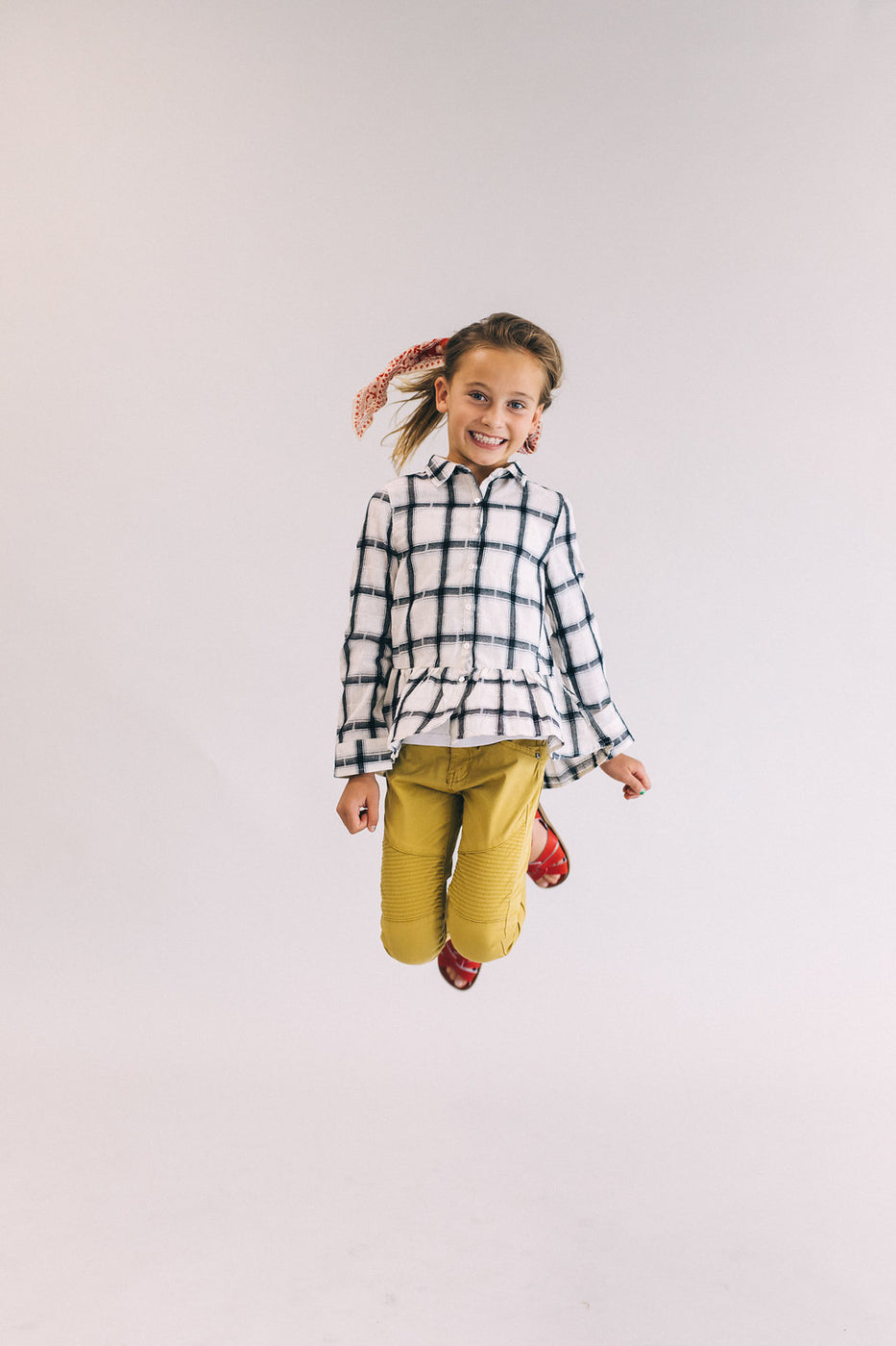 Black + White Plaid Button Up | ROOLEE Kids