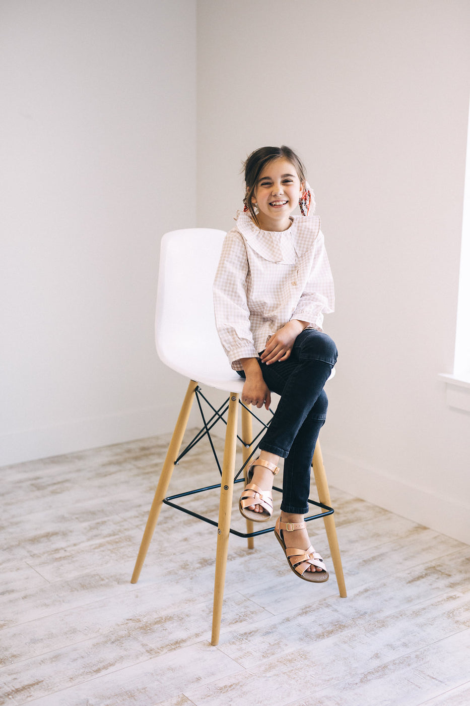 Long Sleeve Ruffle Top For Girls | ROOLEE Kids