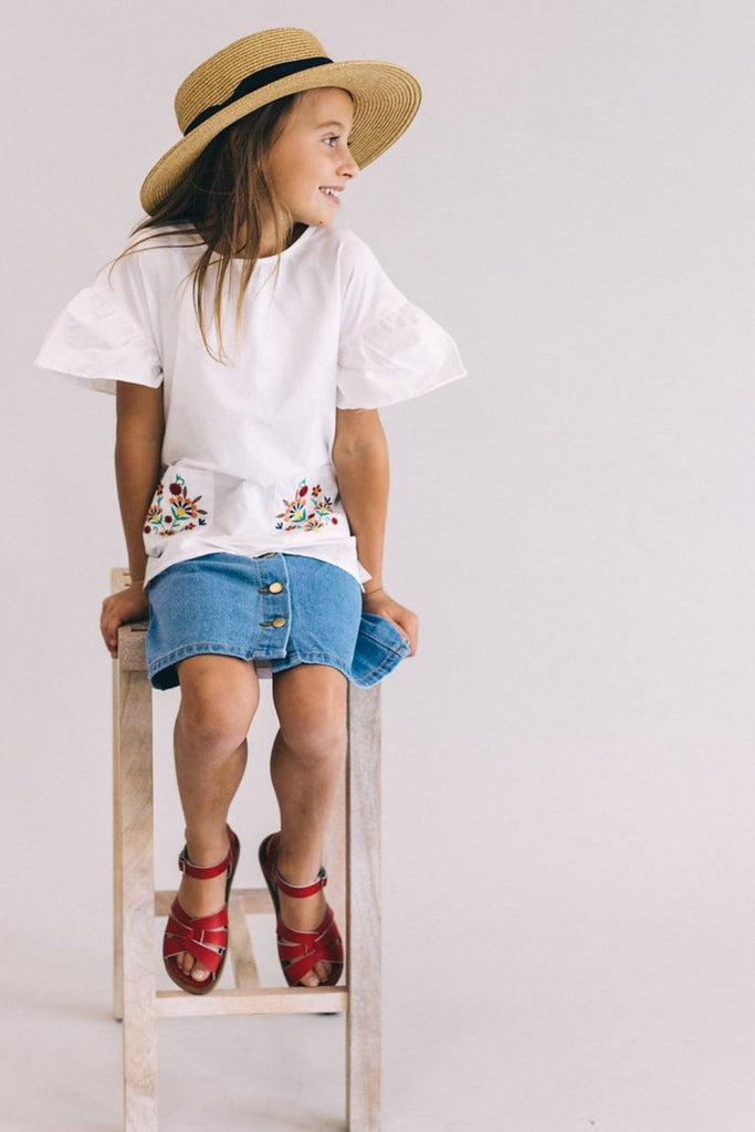 Rue Embroidered Top | ROOLEE Kids