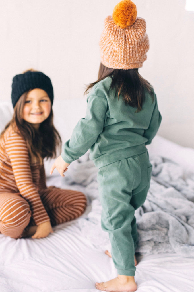 Green Sweatsuit Outfit | ROOLEE Kids