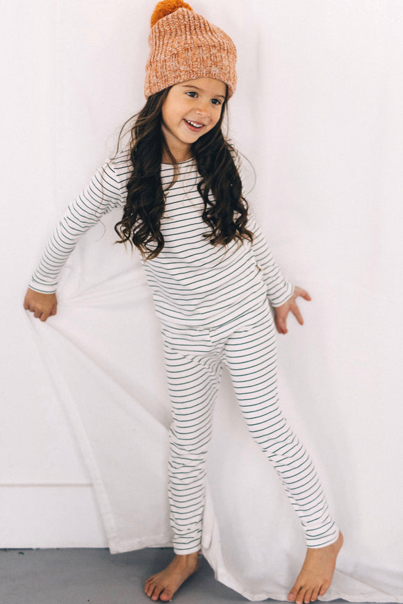 Cozy Striped Pajama Set For Kids | ROOLEE Kids