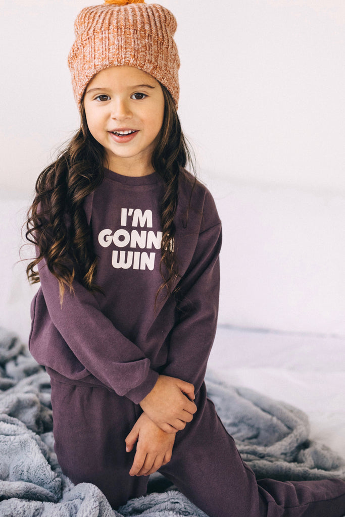 Purple Sweatsuit Outfit | ROOLEE Kids