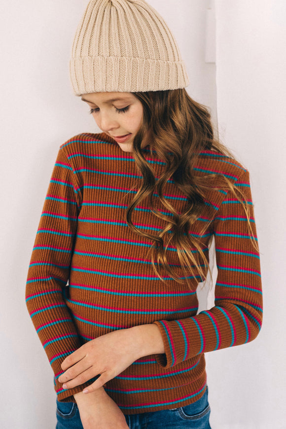 Sugarplum Stripe Sweater | ROOLEE Kids