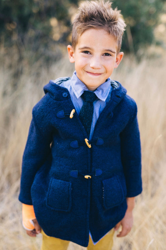 Wool Duffle Coat Outfits For Boys | ROOLEE Kids