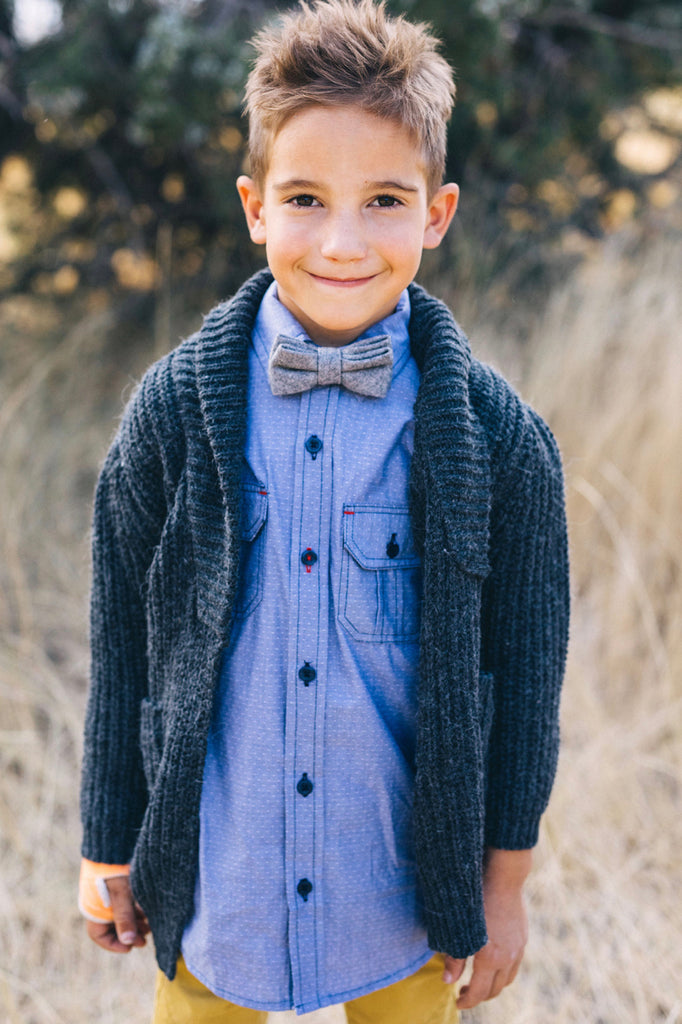 Woven Sweater Cardigan Outfit For Kids | ROOLEE Kids