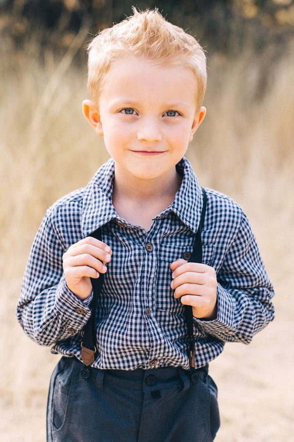 Me & Henry Woven Plaid Shirt | ROOLEE Kids