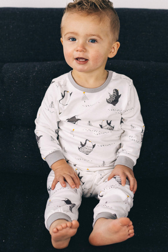 Winter Penguin Pajama Set