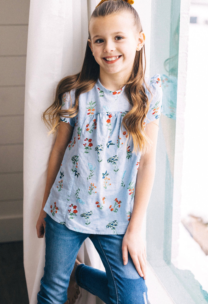 Girls Floral Outfit | ROOLEE